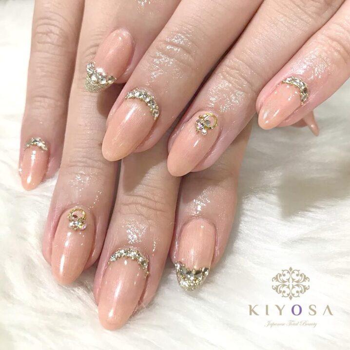 nude nail art at kiyosa makati salon