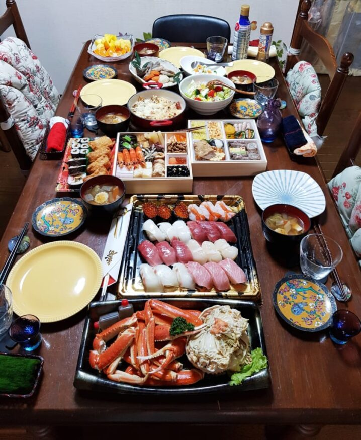 Osechi ryori feast during new year