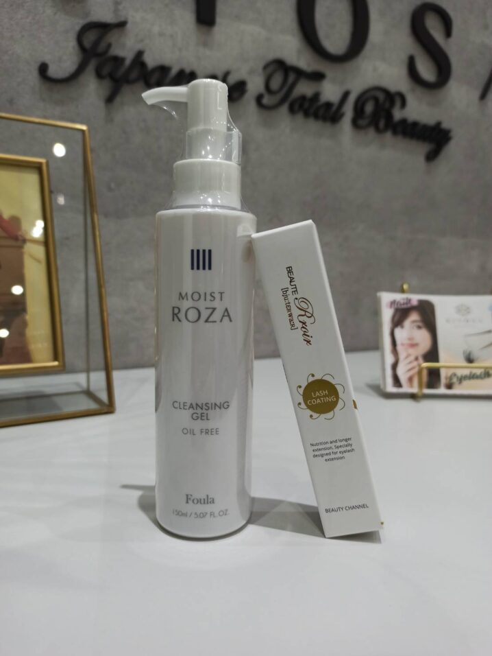 kiyosa oil free cleanser and eyelash coating
