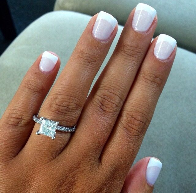princess cut rings matched with square nails