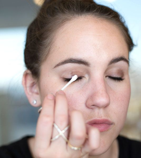 remove eye makeup with cotton swab when you have eyelash extensions